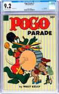 Golden Age (1938-1955):Funny Animal, Dell Giant Comics Pogo Parade #1 (Dell, 1953) CGC NM- 9.2 Off-whiteto white pages....