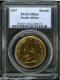 South Africa 1967 Krugerrand MS66 PCGS