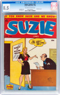 Golden Age (1938-1955):Humor, Suzie Comics #61 (Archie, 1948) CGC VF+ 8.5 Off-white to whitepages....