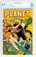 Golden Age (1938-1955):Science Fiction, Planet Comics #42 (Fiction House, 1946) CBCS VF+ 8.5 Off-white towhite pages....