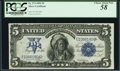 Large Size:Silver Certificates, Fr. 274 $5 1899 Silver Certificate PCGS Choice About New 58.. ...