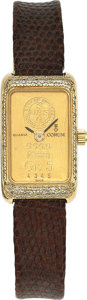 Estate Jewelry:Watches, Corum Lady's Diamond, Gr. 5 Ingot, Gold Watch. ...