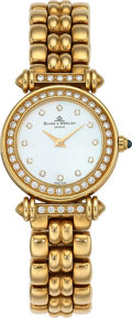 Estate Jewelry:Watches, Baume & Mercier Lady's Diamond, Mother-of-Pearl, Gold Watch....