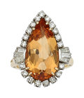 Estate Jewelry:Rings, Topaz, Diamond, Platinum-Topped Gold Ring . ...
