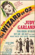 "Movie Posters:Fantasy, The Wizard of Oz (MGM, R-1949). Trimmed One Sheet (24.75"" X 39"").Fantasy.. ..."