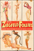 "Movie Posters:Musical, Ziegfeld Follies (MGM, 1945) Folded, Very Good+. One Sheet (27"" X 41"") George Petty Pinup Artwork, Style D. Musical...."