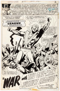 "Dick Dillin and Dick Giordano Justice League of America #112 ""War with the One-Man Justice League!"" Partial St..."