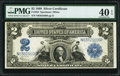 Large Size:Silver Certificates, Fr. 258 $2 1899 Silver Certificate PMG Extremely Fine 40 EPQ.. ...