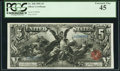 Large Size:Silver Certificates, Fr. 268 $5 1896 Silver Certificate PCGS Extremely Fine 45.. ...