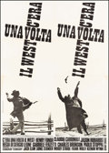"Movie Posters:Western, Once Upon a Time in the West (Euro International, 1968). Italian 4 - Fogli (55"" X 77.5""). Western.. ..."