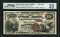 National Bank Notes:West Virginia, Parkersburg, WV - $10 1882 Brown Back Fr. 490 The Farmers &Mechanics NB Ch. # (S)5320. ...