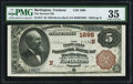 National Bank Notes:Vermont, Burlington, VT - $5 1882 Brown Back Fr. 472 The Howard NB Ch. # (N)1698 PMG Choice Very Fine 35.. ...