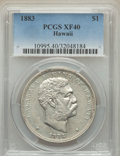 Coins of Hawaii , 1883 $1 Hawaii Dollar XF40 PCGS. PCGS Population: (194/542). NGCCensus: (74/328). CDN: $500 Whsle. Bid for problem-free NG...