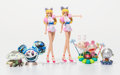 Collectible, Takashi Murakami (b. 1962). Superflat Museum, partial set of six, 2005. Painted vinyl figures. 4 x 2 inches (10.2 x 5.1 ... (Total: 6 Items)