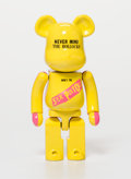 Fine Art - Sculpture, American:Contemporary (1950 to present), BE@RBRICK X Sex Pistols. Chocogin 200%, 2015. Painted metal.5-5/8 x 2-1/2 x 1-1/2 inches (14.3 x 6.4 x 3.8 cm). Stamped...