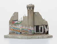 After Banksy Defeated , 2018 Painted cast resin with concrete 4-1/2 x 7 x 4-1/4 inches (11.4 x 1