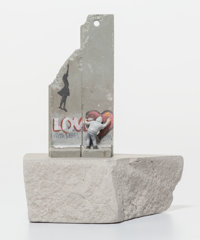 After Banksy Souvenir Wall Section, 2017 Painted cast resin with concrete 5 x 3-7/8 x 2-3/4 inch