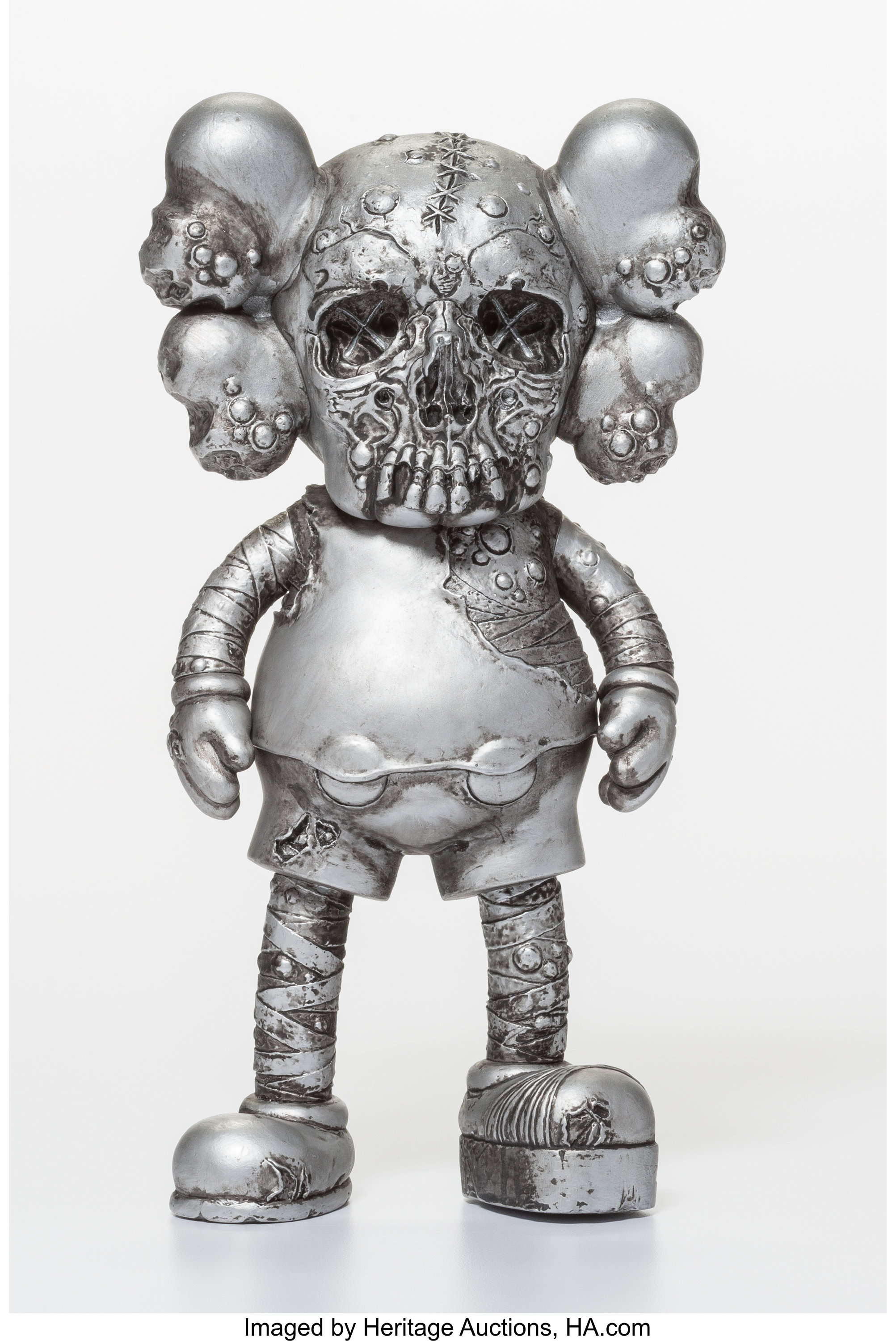 79061b95 KAWS X Pushead. Companion (Silver), 2005. Painted cast vinyl. | Lot #11087  | Heritage Auctions
