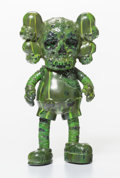 Fine Art - Sculpture, American:Contemporary (1950 to present), KAWS X Pushead. Companion (Green), 2005. Painted cast vinyl.10-1/2 x 5-1/2 x 3-1/4 inches (26.7 x 14.0 x 8.3 cm). Stamp...