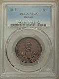 Coins of Hawaii , 1847 1C Hawaii Cent XF45 PCGS. PCGS Population: (23/414). NGCCensus: (25/293). CDN: $475 Whsle. Bid for problem-free NGC/P...