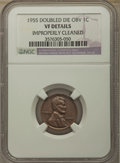 1955 1C Doubled Die Obverse, FS-101 -- Improperly Cleaned -- NGC Details. VF. NGC Census: (0/0). PCGS Population: (0/0)...