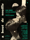 """Movie Posters:Foreign, Breathless (SNC, 1960). Full-Bleed French Moyenne (23.75"""" X 31.75"""") Clement Hurel Design.. ..."""