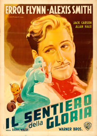 "Gentleman Jim (Warner Brothers, 1948). First Post-War Release Italian 2 - Fogli (39"" X 55"") Luigi Martinati Ar..."