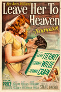 """Movie Posters:Film Noir, Leave Her to Heaven (20th Century Fox, 1945). One Sheet (27"""" X41"""").. ..."""