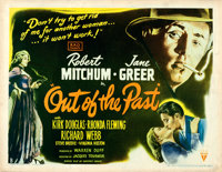 "Out of the Past (RKO, 1947). Half Sheet (22"" X 28"") Style B, William Rose Artwork"