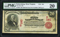 National Bank Notes:West Virginia, Parkersburg, WV - $20 1902 Red Seal Fr. 639 The First NB Ch. # (S)180. ...