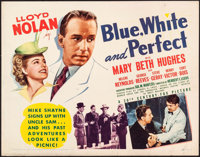 "Blue, White and Perfect & Other Lot (20th Century Fox, 1942). Half Sheets (2) (22"" X 28""). Mystery. ... (T..."