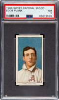 Baseball Cards:Singles (Pre-1930), 1909-11 T206 Sweet Caporal 350/30 Eddie Plank PSA NM 7 - Pop Three, One Higher. ...
