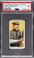 Baseball Cards:Singles (Pre-1930), 1909-11 T206 Sweet Caporal 350/30 Harry Steinfeldt (With Bat) PSA NM 7 - Only One Higher! ...