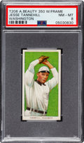 Baseball Cards:Singles (Pre-1930), 1909-11 T206 American Beauty 350-With Frame Jesse Tannehill (Washington) PSA NM-MT 8 - Pop Five, None Higher! ...