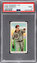 Baseball Cards:Singles (Pre-1930), 1909-11 T206 Piedmont 150 Rube Waddell (Throwing) PSA Mint 9 - Pop Two, None Higher! ...