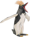 Sculpture, An American Folk Art Carved and Painted Wood Rockhopper Penguin Sculpture, 20th century. 40 x 39 x 2...