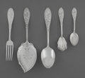Silver & Vertu:Flatware, A Twenty-Seven Piece Whiting Honeysuckle Pattern Silver Flatware Group, New York, New York, circa 1875. Marks: (... (Total: 27 Items)