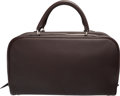 """Luxury Accessories:Bags, Hermes 35cm Ebene Clemence Leather Victoria Bag with Palladium Hardware. J Square, 2006. Condition: 2. 14"""" Width x..."""