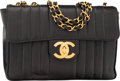 """Luxury Accessories:Bags, Chanel Black Caviar Leather Jumbo Single Flap Bag. Condition 4.12"""" Width x 8.5"""" Height x 3"""" Depth. ..."""