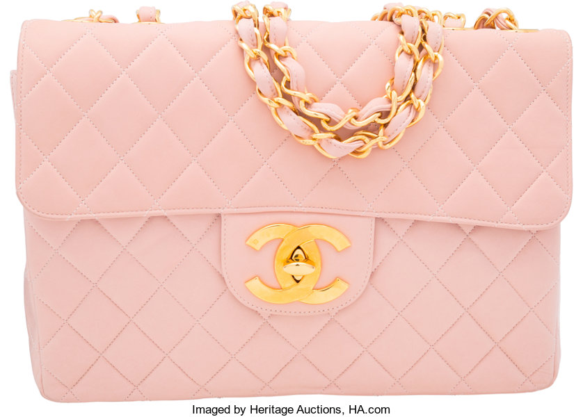 101b7dfaceadbc ... Luxury Accessories:Bags, Chanel Pink Quilted Lambskin Leather Jumbo  Single Flap Bag withGold Hardware ...
