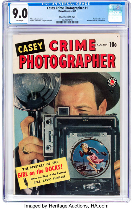 Casey-Crime Photographer #1 Mile High Pedigree (Marvel, 1949) CGC VF/NM 9.0 White pages....