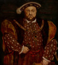 Fine Art - Painting, European, After Hans Holbein the Younger (German). King Henry VIII.Oil on canvas. 36-1/4 x 32 inches (92.1 x 81.3 cm). The orig...