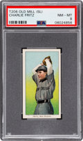 Baseball Cards:Singles (Pre-1930), 1909-11 T206 Old Mill Charlie Fritz PSA NM-MT 8 - Pop Three, None Higher! ...