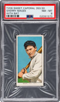 Baseball Cards:Singles (Pre-1930), 1909-11 T206 Sweet Caporal 350/30 Sherry Magee (With Bat) PSA NM-MT 8 - Pop Three, None Higher! ...