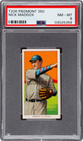 Baseball Cards:Singles (Pre-1930), 1909-11 T206 Piedmont 350 Nick Maddox PSA NM-MT 8 - Pop Eight, NoneHigher! ...