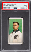 Baseball Cards:Singles (Pre-1930), 1909-11 T206 Old Mill George Manion PSA Mint 9 - Pop One, None Higher! ...