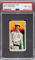 Baseball Cards:Singles (Pre-1930), 1909-11 T206 Piedmont 350 Billy Maloney PSA NM-MT 8 - Pop Four, None Higher! ...