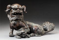 Asian:Chinese, A Chinese Bronze Fu Lion Censer, Qing Dynasty, 17th-18th century. 8h x 13 w x 7 d inches (20.3 x 33.0 x 17.8 cm). PROVENA...