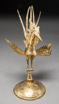 Asian:Chinese, A Southeast Asian Gilt Bronze Rooster Figure. 12 h x 6-7/8 w x6-1/4 d inches (30.5 x 17.5 x 15.9 cm). ...