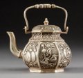 Asian:Chinese, A Chinese Silver-Plated TeapotMarks: Six-chara...